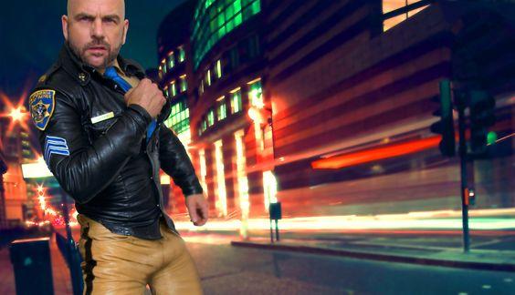 Leather highway cop