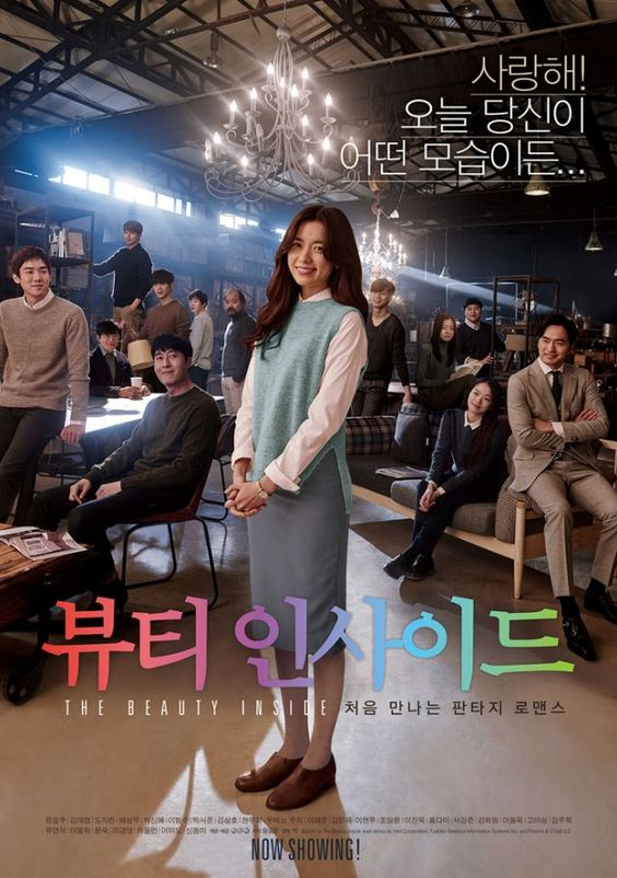 The Beauty Inside 2015 Korean drama cast: Han Hyo Joo, Do Ji Han, Park Seo Joon, LeeJae Joon, Lee Hyun Woo, Lee Jin Wook, Seo Kang Joon, Yoo Yeo Seok, Lee Dong Wook. Woo-Jin changes into a different person everyday when he wakes up. He falls in love with Yi-Soo. How will Yi-Soo react to Woo-Jin's secret?: