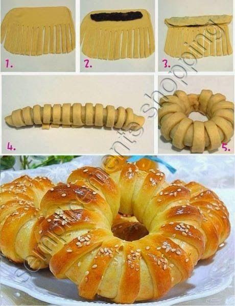 Girandola di pan brioche