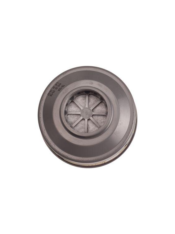 Zeige Details für Gas Filter: Filter typ: Gas Filter  Klasse:Typ A: Anwendung: A.Organische Dämpfe und Gase mit einem Siedepunkt von 65 0C und höher. Eindreh-Filter.  Zertifikat: EN 143:2000/ EN 14387:2004