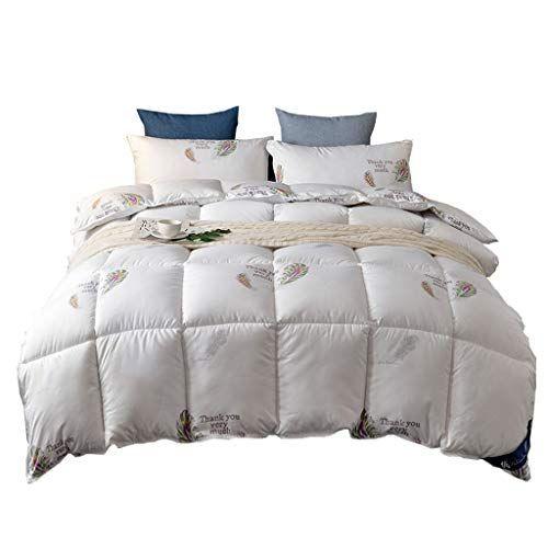 White Goose Down White Quilt All Season Quilted Comforter Duvet