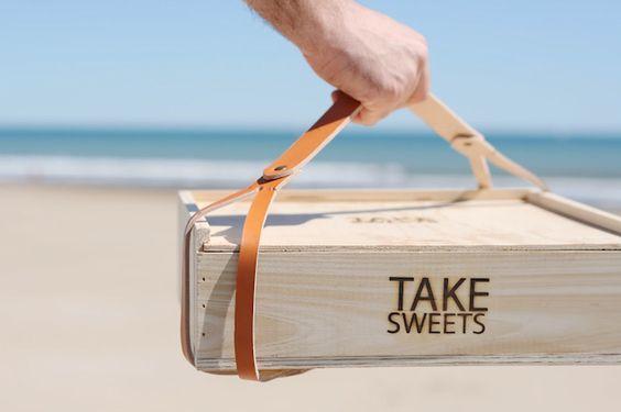 Take Cake Sweetpack cajas para transportar cupcakes, tarts y dulces de madera 3