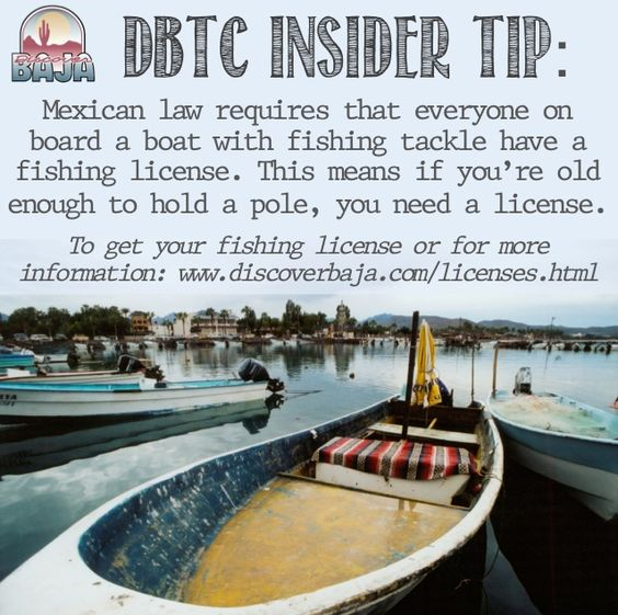 Mexican law says that everyone on board a boat with for Mexico fishing license