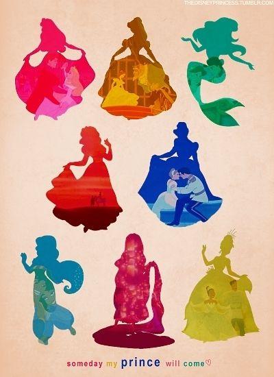 Disney Princess Silhouettes - disney-princess Photo