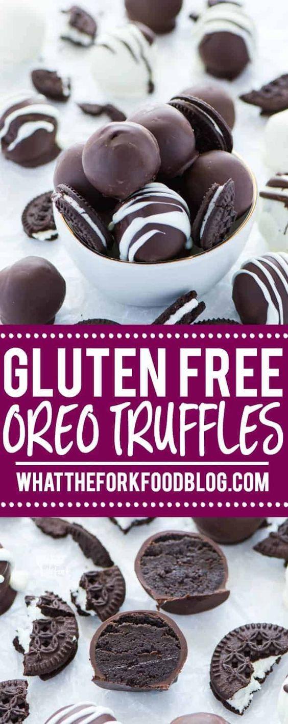 Gluten Free Oreo Truffles (Easy, No-Bake Dessert)