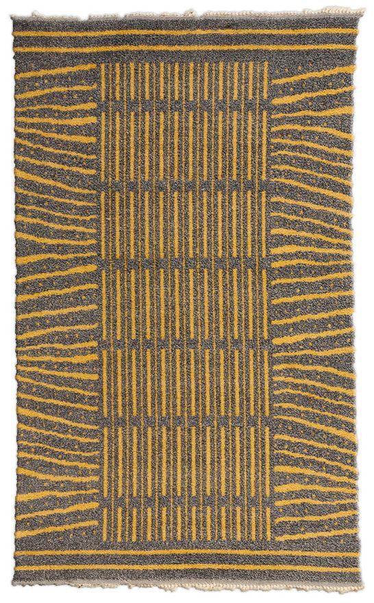 Handmade Vintage Swedish Wool Rug In Blue Grey And Yellow Bb7102 By Dlb Scandinavian Rug Rugs On Carpet Reversible Rug