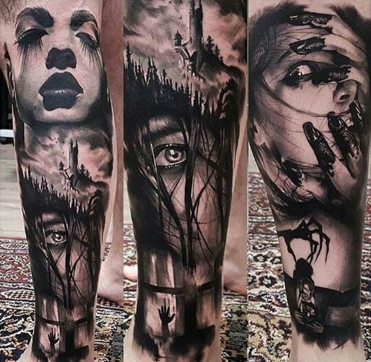 Arm Tattoo Horror Scary Blood