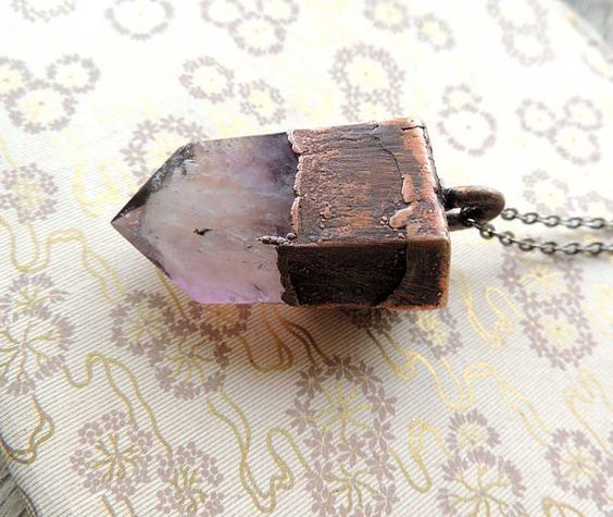 gift for him amethyst geode Copper Dipped by MARIAELA on Etsy