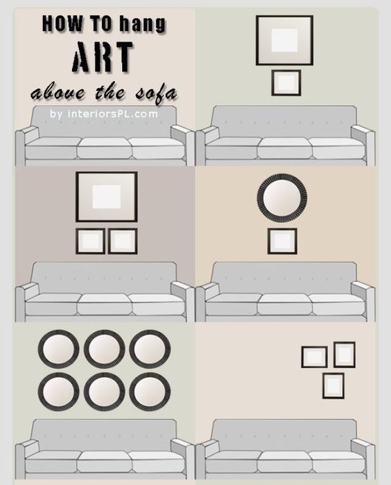 How To Hang Art Above The Sofa | Ideas to never forget | Pinterest ...