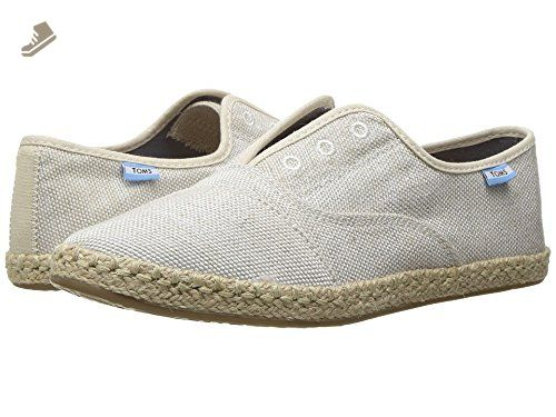 Toms Women's Palmera Yarn Dye Natural Ankle-High Fabric Flat Shoe - 6.5M YvvrNyDL8