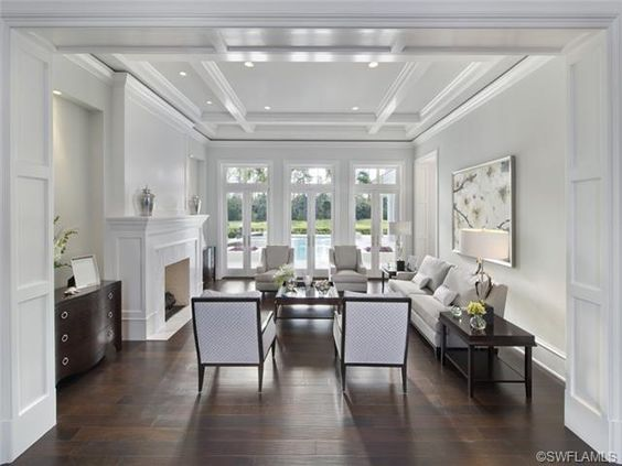 Stark White Transitional Formal Living Room