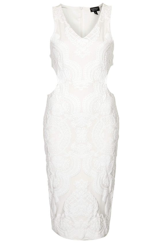 The trend report: White and lacy -    TOPSHOP Lace Bodycon Midi Dress