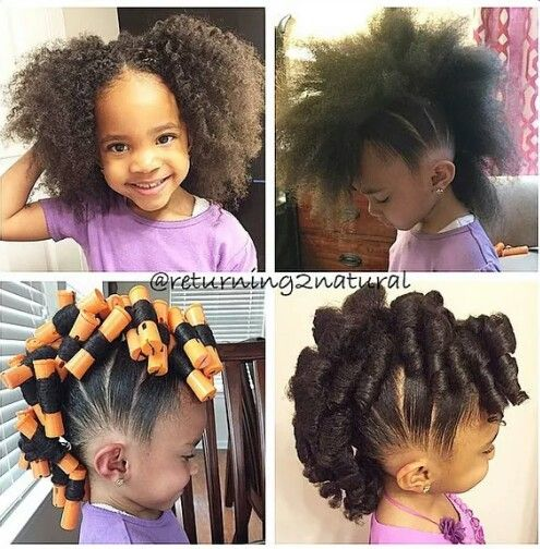 Awesome Little Girl Hairstyles Curly Faux Hawk And Cute Little Girl Short Hairstyles For Black Women Fulllsitofus