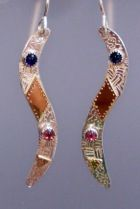 Carolina Creations | AA E 286 Long Curved S earring | Fine Art Contemporary Gift Gallery