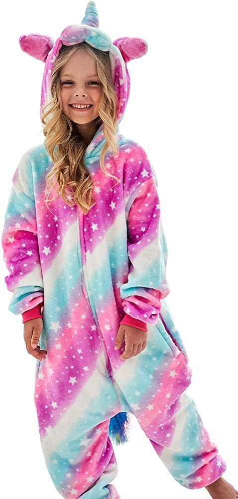 Soft Unicorn Costume for Kids Girls Unicorn Pajamas Onesie