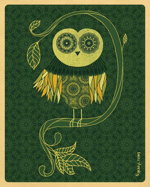 Lechuza. Artista: Laura Varsky. Pineado de: http://www.lauravarsky.com.ar/illustration-lettering/-new-lechuza/