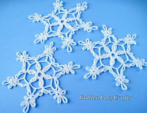 Snowflake Free Crochet Snowflake Patterns Holiday Crochet Patterns Crochet Christmas Snowflakes