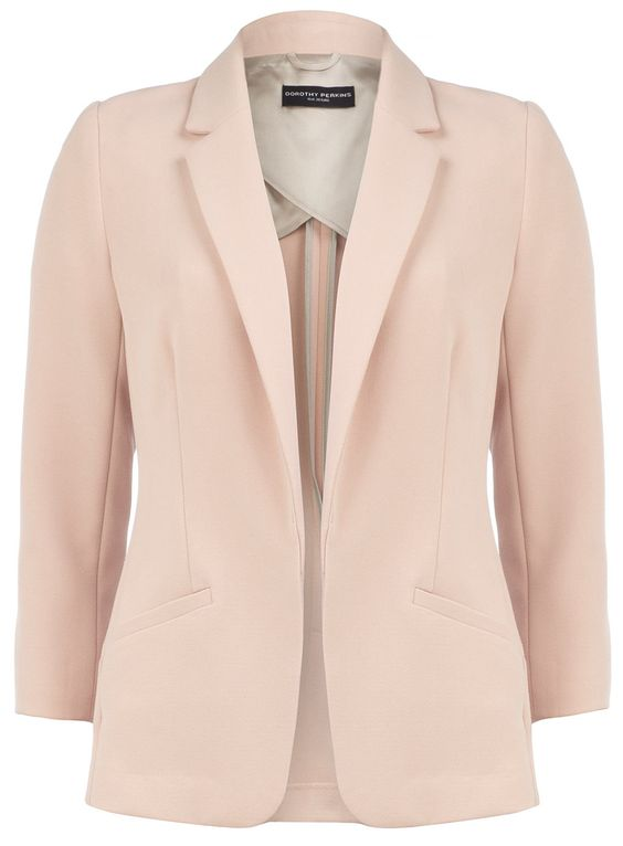 Pretty pastel pink jacket to wear over those sleeveless dresses in ...