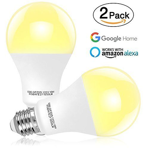 Tonbux Wifi Smart Light Bulb No Hub Required Alexa Color Led Bulbs 10w Work With Echo And Google Home Rgbw Tunable Smartphone Controlled Daylight And Night Smart Light Bulbs Light Bulb