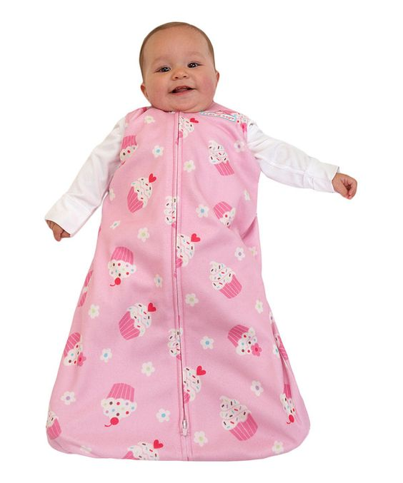 Look at this Halo Pink Cupcake Sur le Dos C'est Mieux SleepSack - Infant on #zulily today!