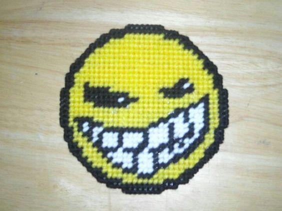 Evil Grin Smiley Magnet