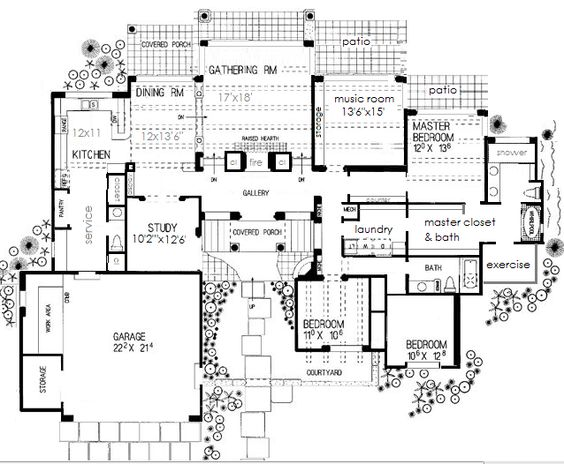 House Plan   sq ft  Great plan for a rear facing view  Thank    House Plan   sq ft  Great plan for a rear facing view  Thank you for re pinning this plan   I designed it myself based on a smaller pre made plan
