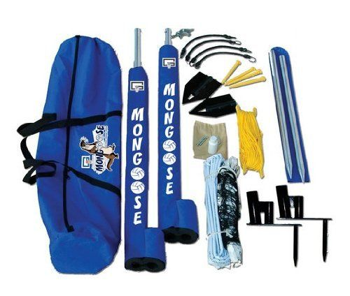 Gared Sports Mongoose Wireless Outdoor Volleyball Net System by Mongoose. Save 37 Off!. $302.66. Bring the game wherever you want to play with the The Gared Sports Mongoose Wireless Volleyball System. Whether set up on sand, grass or indoors, the Mongoose Volleyball system offers serious volleyball without frustrating guy wires. With its exclusive tension-operated design and patented two-stake in-ground plate system, the Mongoose is sturdy and durable for all levels of play....
