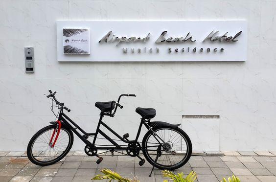 Let's tandem at Airport Beach! #tandembikes #bikes #hulhumale #maldives