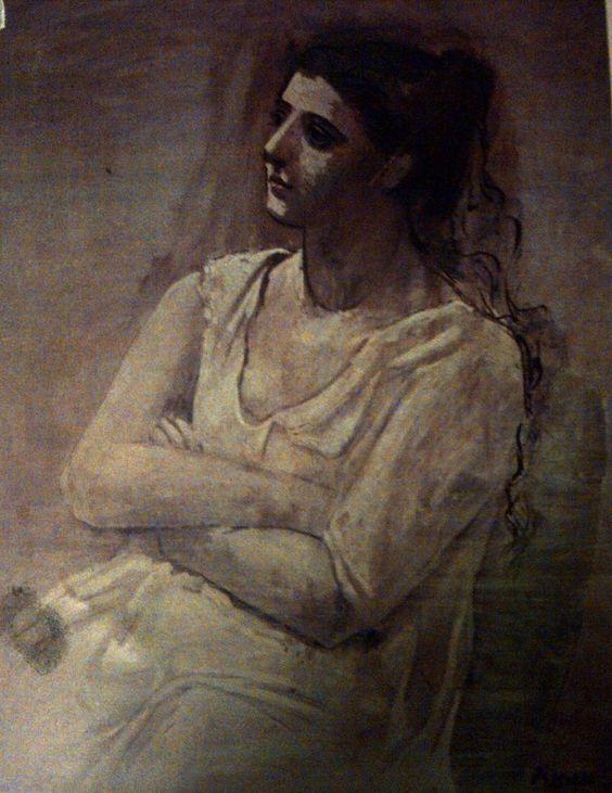 Pablo Picasso「Donna in bianco」(1923)