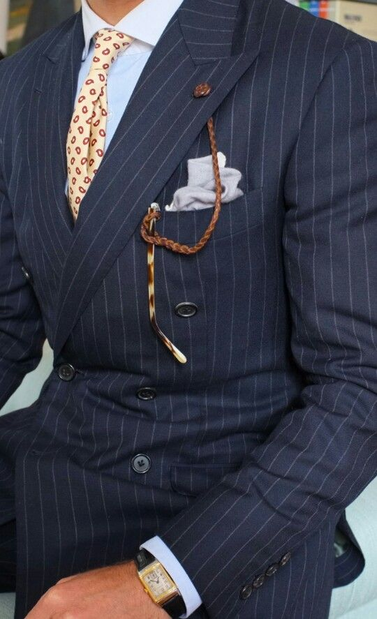 Pinstripe suit with details☆