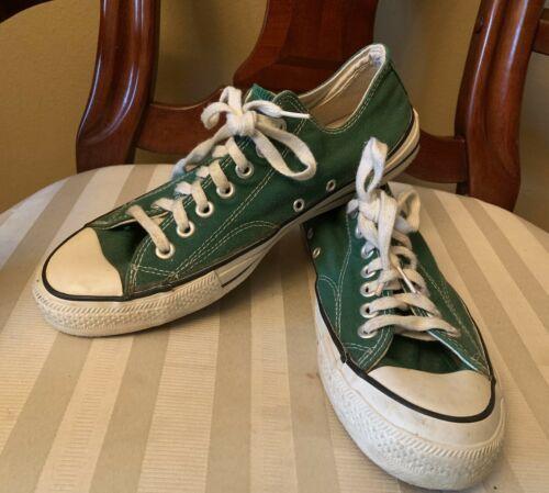 minacciare Quanto sopra terra  Converse, All Star, Vintage 1980's, Green, Size 9, Made in USA in 2020 |  Converse, Converse vintage, Vintage sneakers