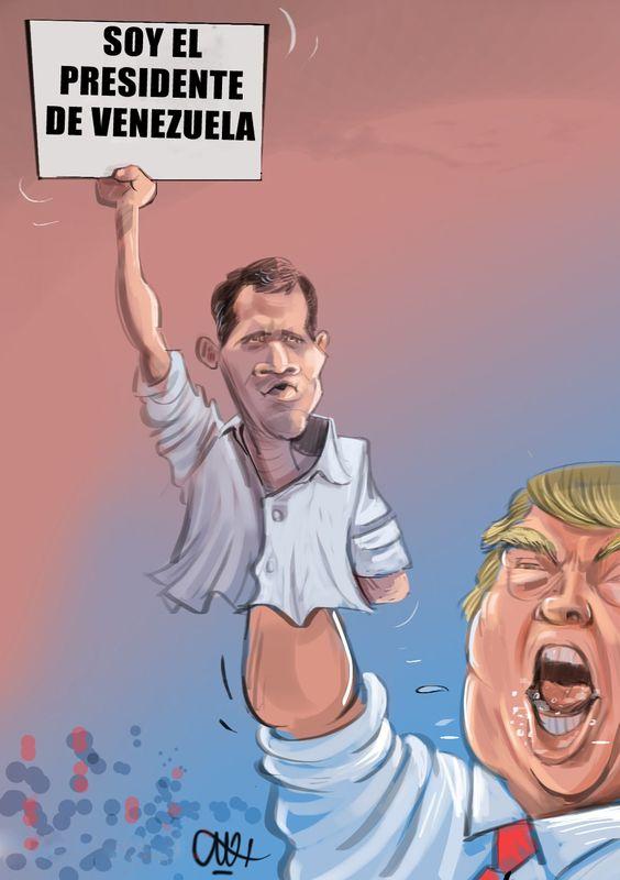 ¿Cuál sería el mejor TÍTULO para esta #caricatura? #GolpeDeEstadoEstadounidenseFracasaEnVenezuela #Venezuela #Trump #Guaidó #EEUU