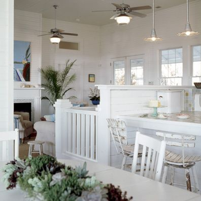 what a great little space! Coastal Style: White and Beachy…