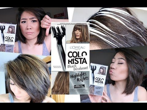 How To Do Highlights At Home Diy Highlight Colorista Kit By Loreal Paris Review Youtube Blonde Highlights On Dark Hair Diy Highlights Hair Diy Highlights