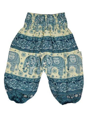 Balarama Kids Blue Harem Pants by The Elephant Pants