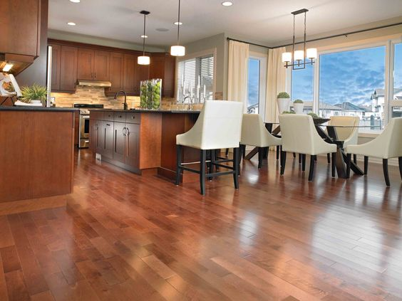 Laminate Flooring can be installed over any type of existing floor and it is also quite hard to damage by mechanical force.