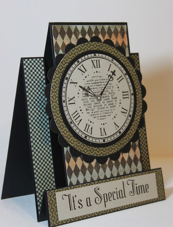 Time clock, Cards and Clock on Pinterest | 564 x 740 jpeg 70kB