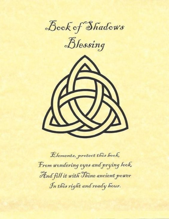 Book of Shadows Blessing Page on Parchment with Triquetra | eBay: