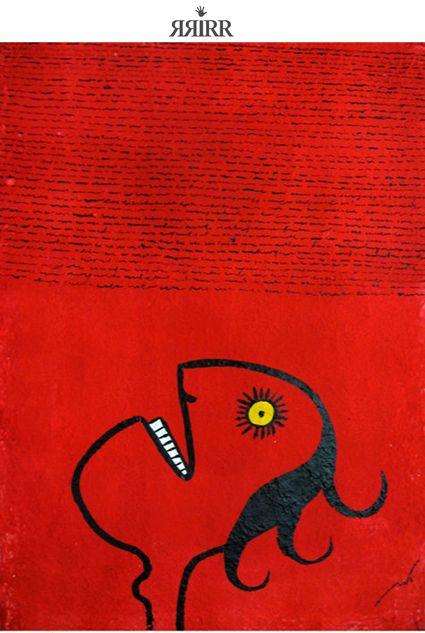 GRITO DE MIL PALABRAS   Pintura en acrílico sobre bastidor de papel reciclado   50X70   RRiRR Ricardo Gil Turrion