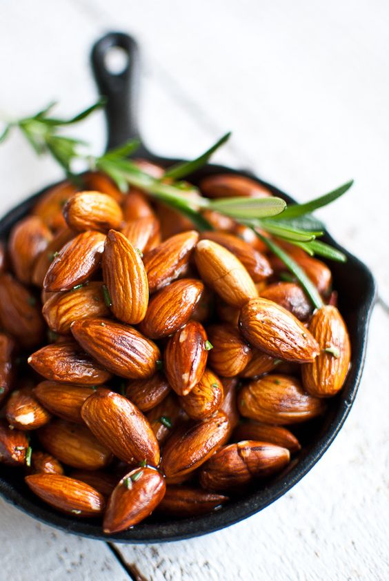 Almonds, sea salt, rosemary recipe // scandi foodie