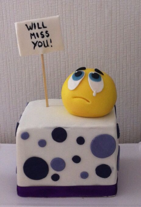 Goodbye Cake Images : Goodbye cake Abschiedstorte She got them... Pinterest ...