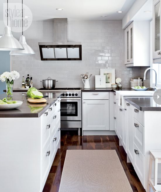 Kitchen Subway Tile Backsplash Get The Look And Grey