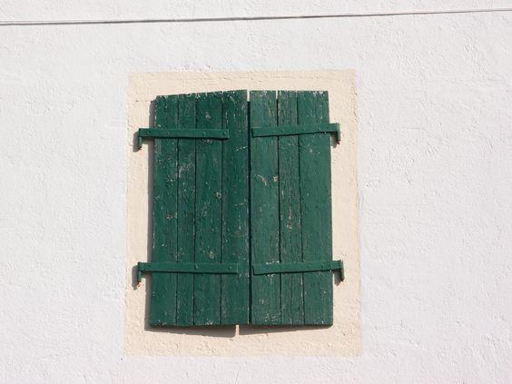 Old green window in or nearby Paklenica, Croatia. Photographed by Marleen van de Kraats, no photoshop or paint etc.