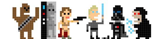 Star Wars : Le retour du Jedi en pixel