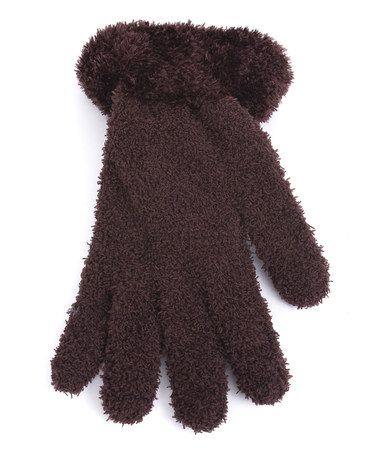 Take a look at this Brown Fuzzy Gloves by Magid on #zulily today!