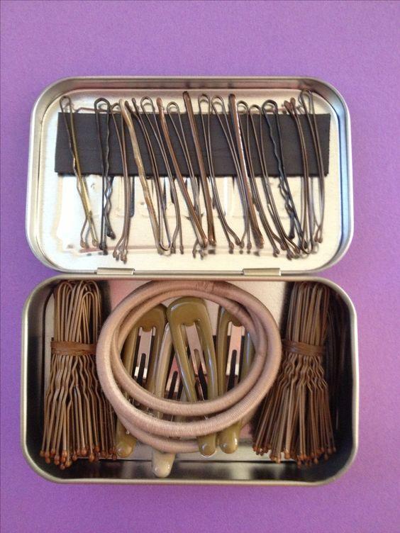 Upcycled Altoids container = Bun Box for dance hair.♥ Wonderful! www.thewonderfulworldofdance.com #dance