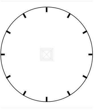 Plantilla para reloj de pared para colorear buscar con - Dibujos de relojes para imprimir ...