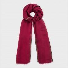 Paul Smith Women's Damson Silk-Blend Thin Border Scarf