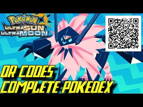 Pokemon Ultra Sun And Ultra Moon Complete Pokedex All Qr Codes