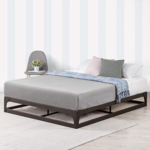 Mellow 9 Inch Metal Platform Bed Frame W Heavy Duty Steel Slat Mattress Foundation Full Black In 2020 Metal Platform Bed Bed Frame And Headboard Bed Frame